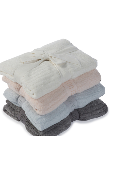 Barefoot Dreams BFD CCL Ribbed Blanket (Baby) Pink