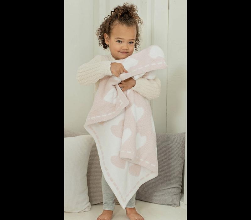 BFD Cozychic Dream Receiving Blanket Aqua/Ice White