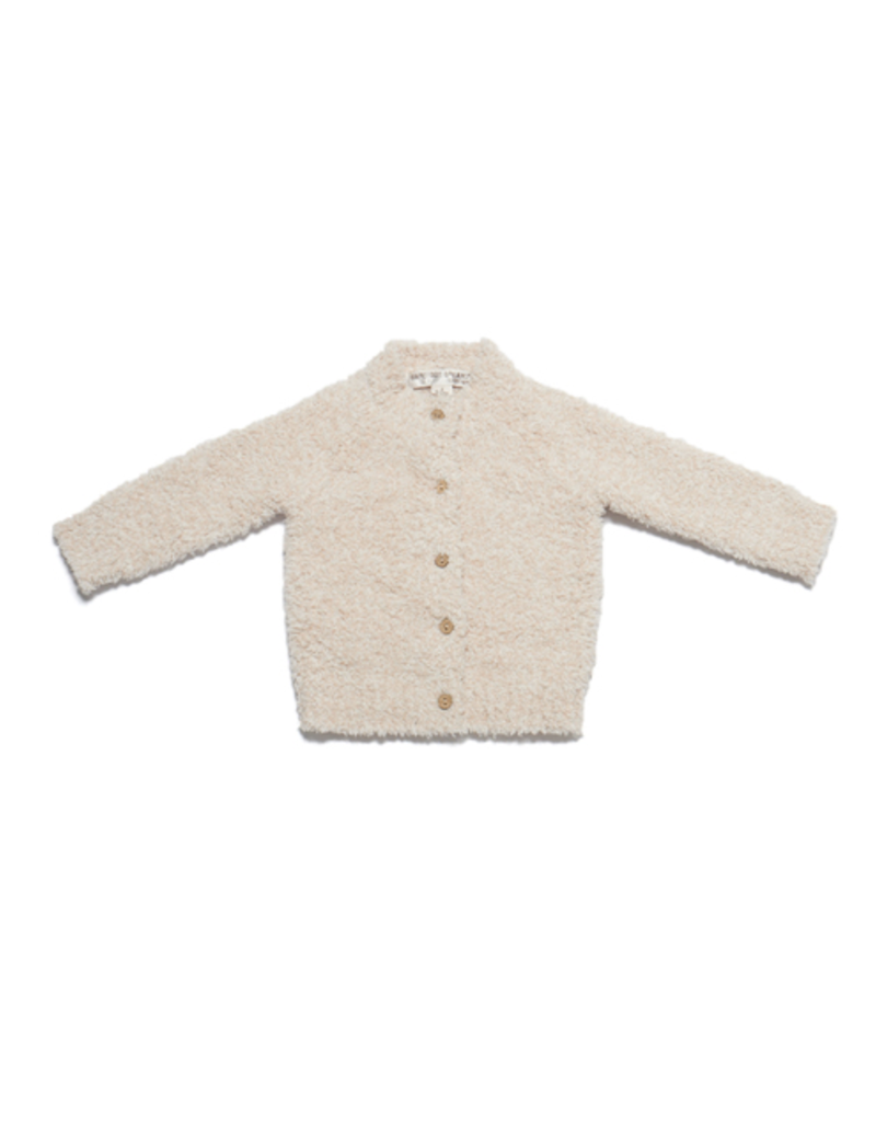 Barefoot Dreams BFD Cozychic Infant Heathered Cardigan - Pink/White