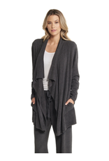 Barefoot Dreams BFD Cozychic Ultra Lite Hi/Lo Cardi in Carbon