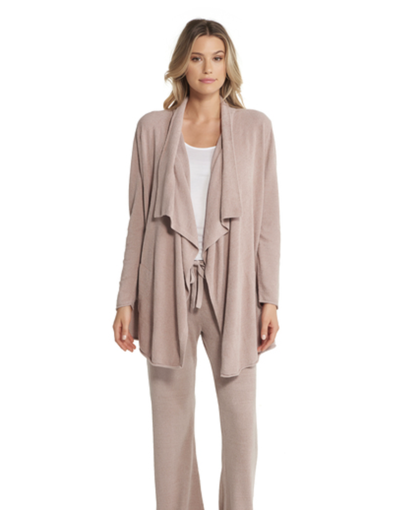 Barefoot Dreams BFD Cozychic Ultra Lite Hi/Lo Cardi in Faded Rose