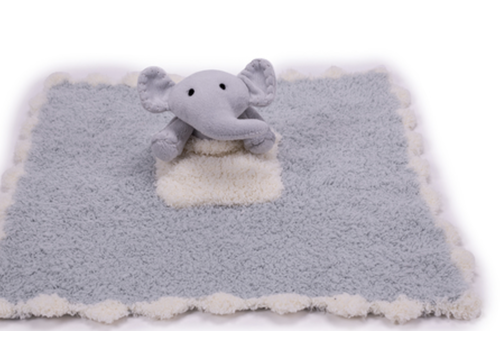 Barefoot Dreams BD CozyChic Pocket Buddie Ocean/Elephant