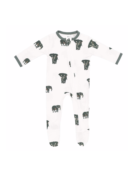 Kyte Baby Elephant Zippered Footie (3-6 Months)