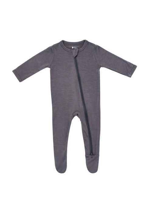 Kyte Baby Kyte Zippered Footie- Charcoal