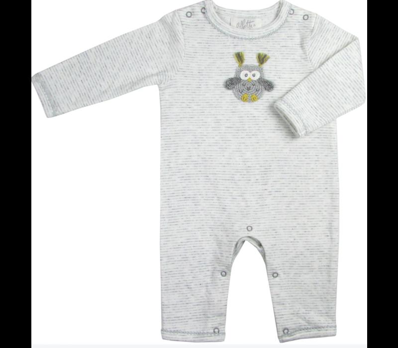 Albetta Crochet Snuggle Babygro - Owl