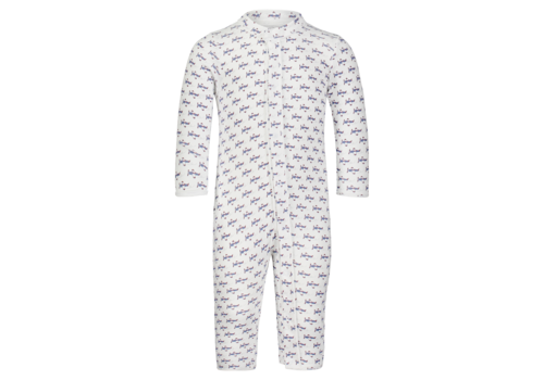Lila and Hayes LH Graham Boys Snap Front Romper in Summer Soaring