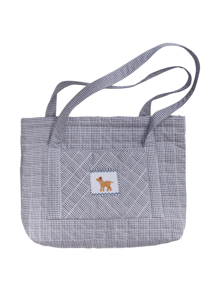 Little English Quilted Luggage Tote Dog