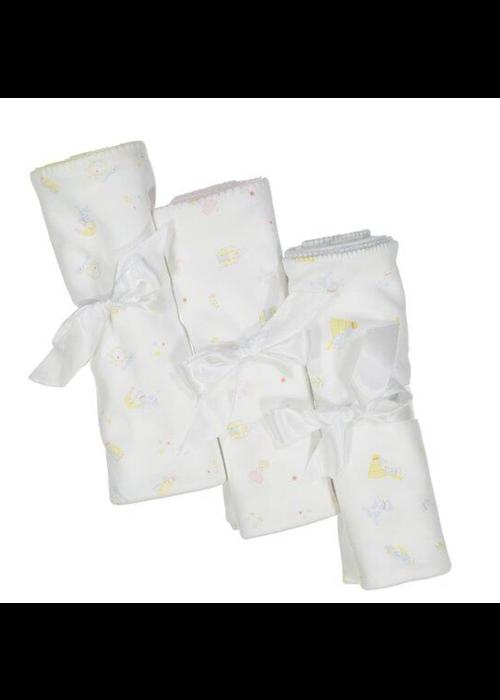 Pixie Lily PL Mary Had a Little Lamb Blanket Pk/Wht