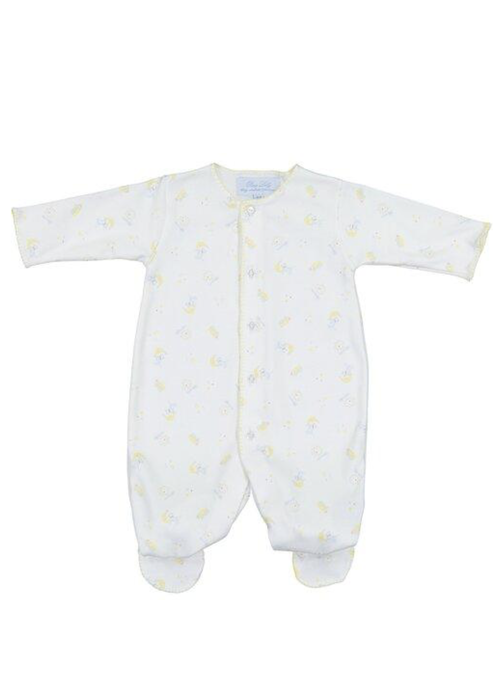 Pixie Lily PL Hey Diddle Footie 0-3m Blue/Ylw