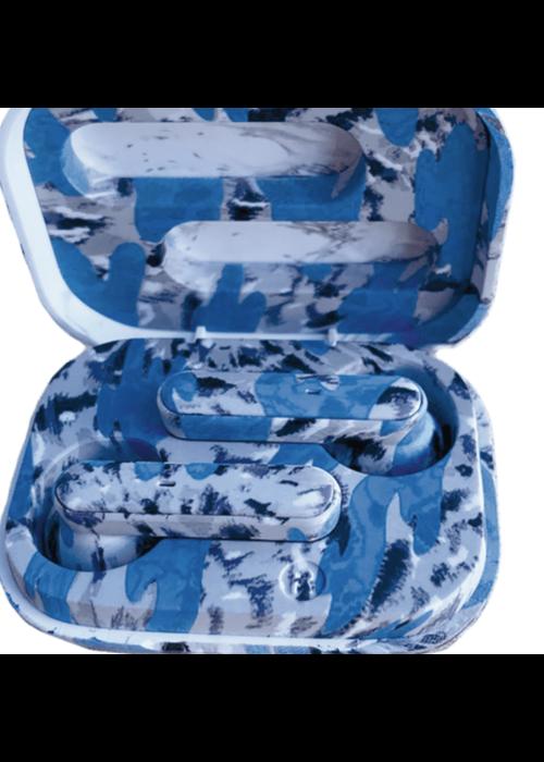 IS Blue Tie Dye Earbuds