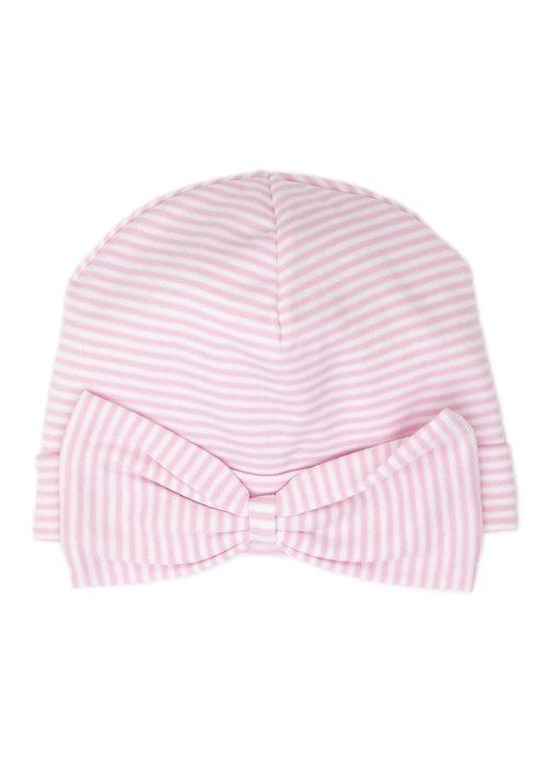 Kissy Kissy KK Stripes (New) Hat in Pink/Wht (w/bow)
