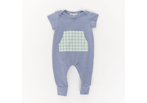 Thimble Collection Zipper Romper Periwinkle