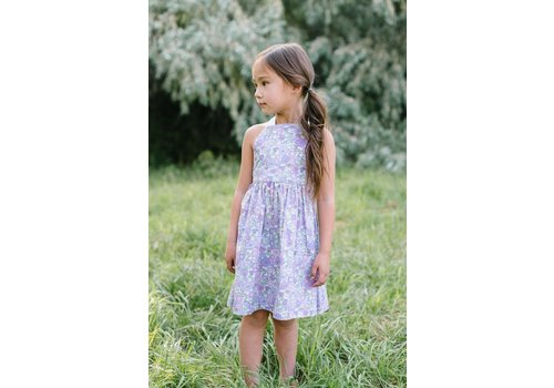 Thimble Collection T-Strap Dress Wisteria