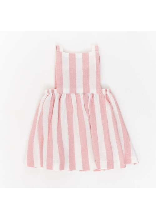 Thimble Collection Pinnafore Dress Rose Stripe