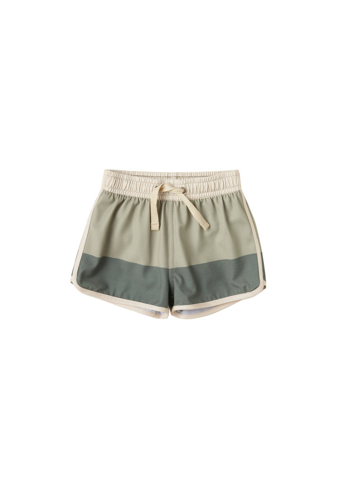 R+C Boys Swim Trunk in Sage/Fern