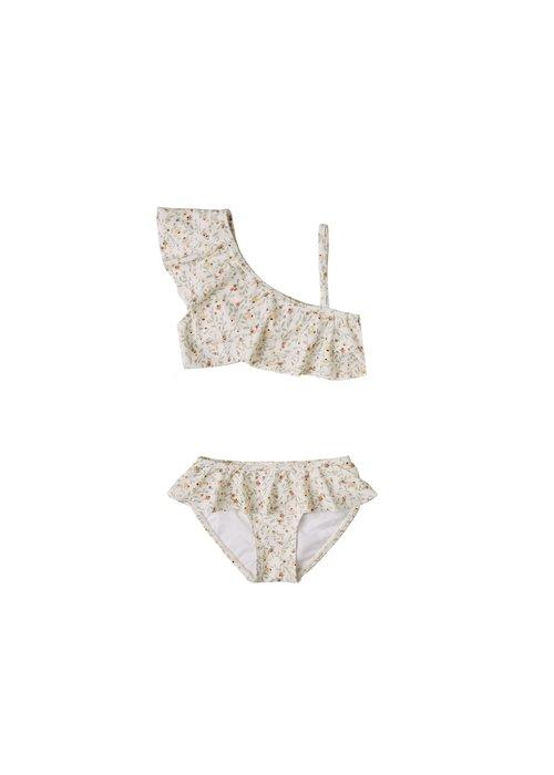 Rylee & Cru R+C Spring Meadow Skirted Bikini in Ivory