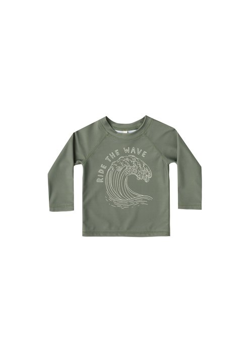 Rylee & Cru R+C Boys Ride the Wave Rashguard in Fern