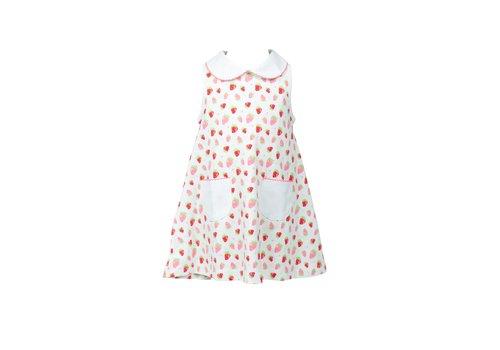Proper Peony Strawberries A-Line Dress