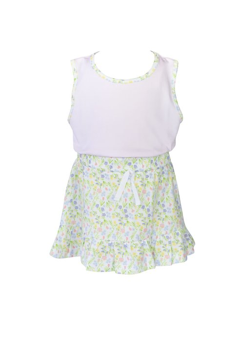 Proper Peony Garden Floral Skirt Set