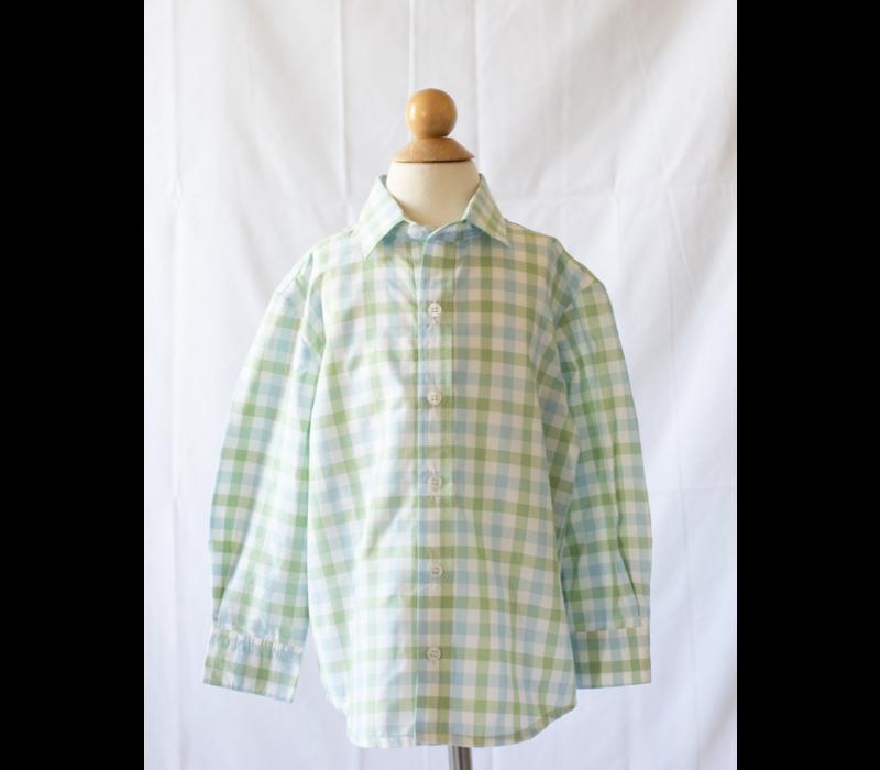 PG Boys Button Down Shirt in Chapel Hill Check