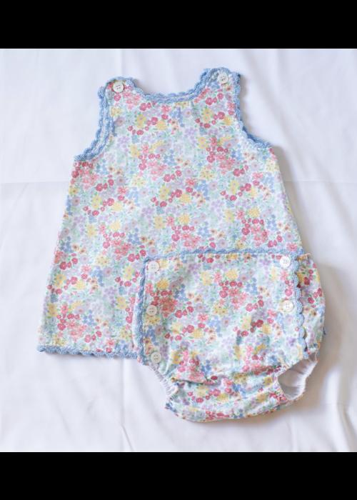 Peggy Green PG Heirloom Sun Set - Churchill Floral w/baby blue