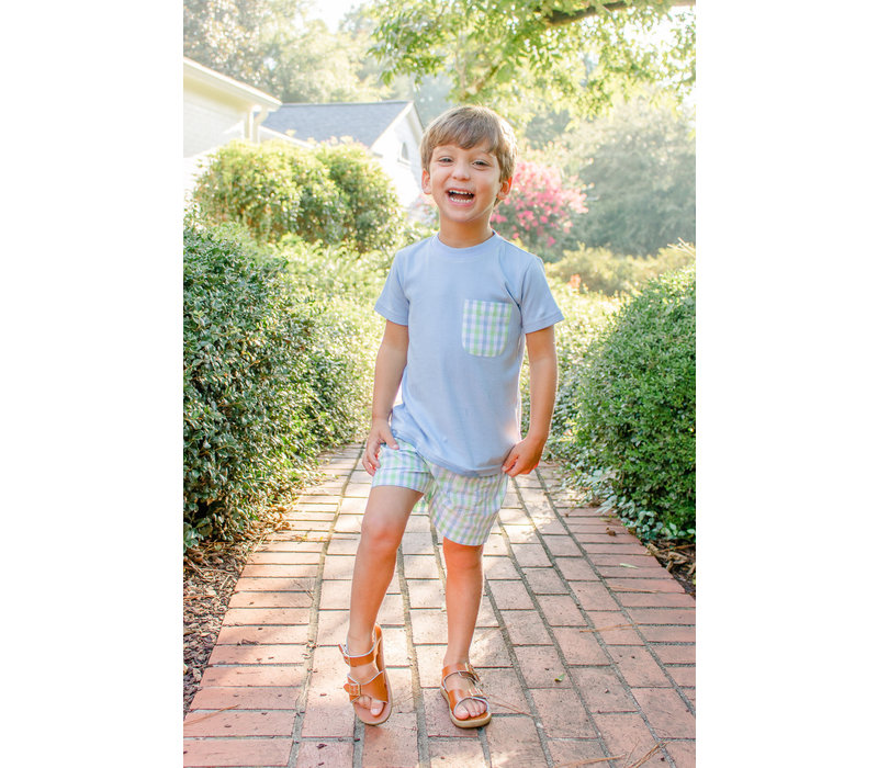 G&J Matthew Plaid Pocket T-Shirt Set