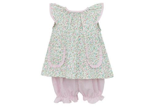 Petit Bebe PB Angel Wing Bloomer Set Pk/Bl Liberty Floral