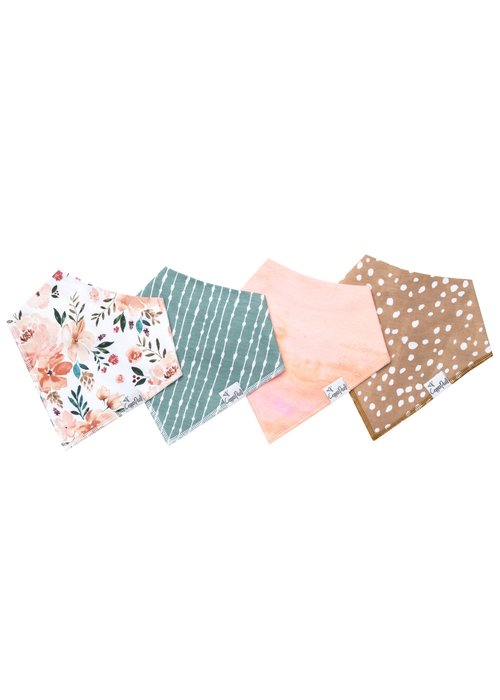 Copper Pearl CP Baby Bandana Bib 4/pk Set (More Colors Available )