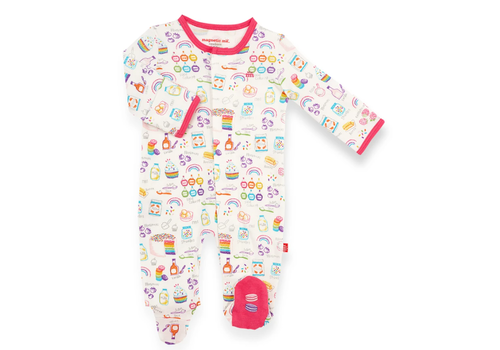 Magnetic Baby MAG Rainbow Sprinkles Organic Cotton Magnetic Footie