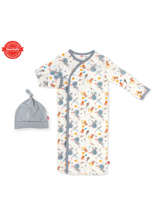 Magnetic Baby MAG Astro Pups Modal Magnetic Gown/Hat Set