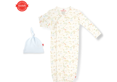 Magnetic Baby MAG Land Down Under Modal Magnetic Gown/Hat Set