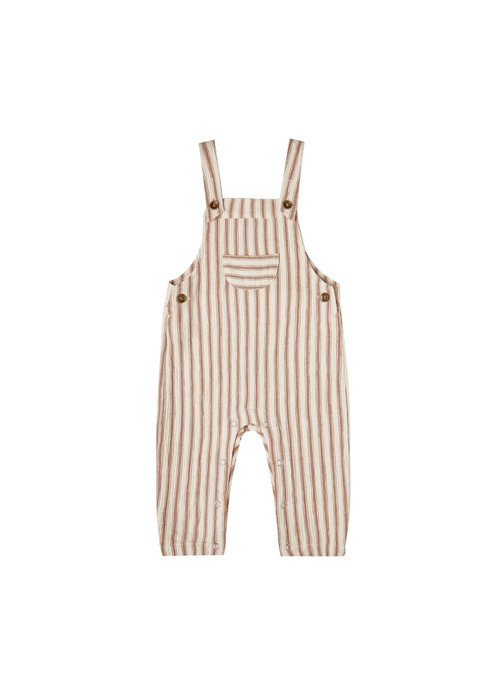 Rylee & Cru R+C Striped Baby Overalls in Natural/Amber