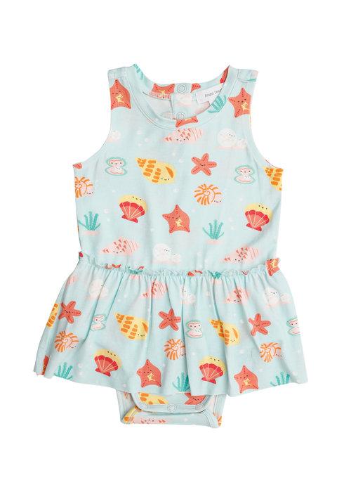 Angel Dear AD Happy Shells Bodysuit w/Skirt Turq