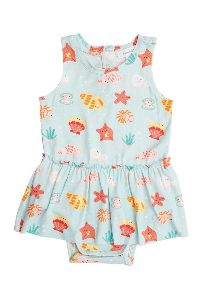 AD Happy Shells Bodysuit w/Skirt Turq