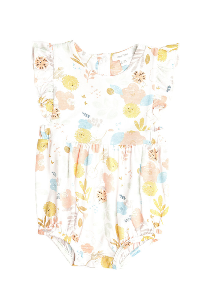 AD Dandy Lion Ruffle Sunsuit in White