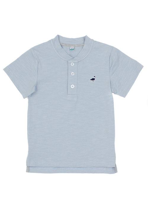 Properly Tied PT Ozark Henley in Salt Blue
