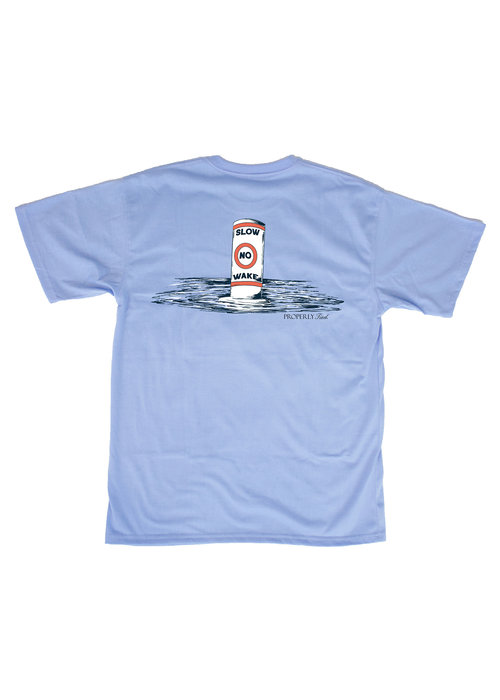Properly Tied PT No Wake S/S Tee in Lt Blue