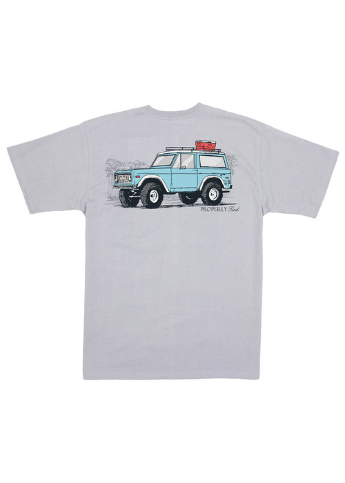 Properly Tied PT 4x4 S/s Tee in Ice Grey