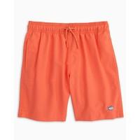 ST Boys Youth Solid Swim Trunk in Nautical Orange