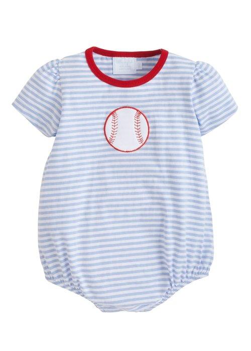Little English LE Applique Bubble Baseball Lt Blue Str