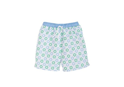 Little English LE Board Short - Sanibel (Blue/green floral)