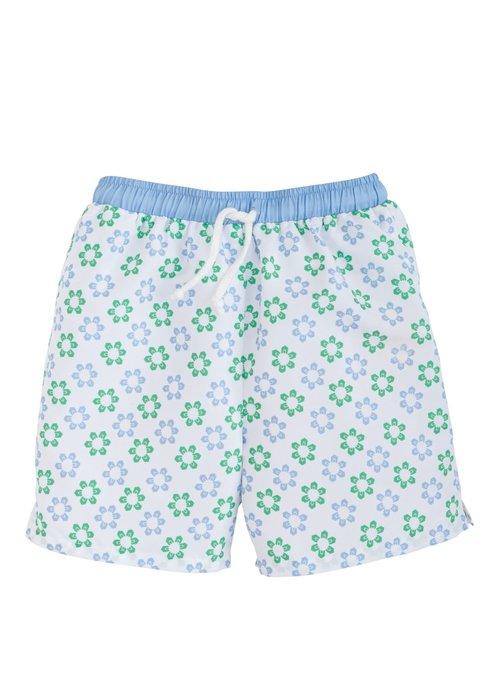 Little English LE Board Short - Sanibel (Blue/green floral)