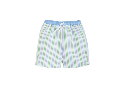 Little English LE Board Short - Summer Stripe  (Blue/gr/pk str)