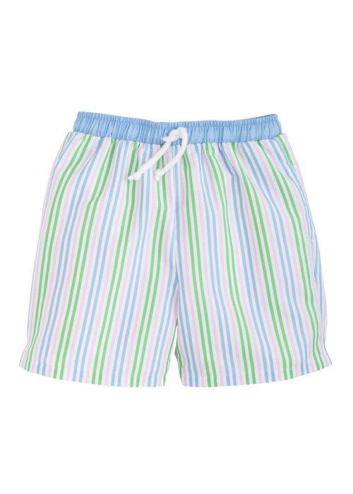 Little English LE Board Short - Summer Stripe  (Blue/gr/pk str)