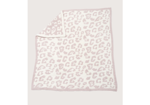Barefoot Dreams BFD Cozychic BITW Baby Blanket - Dusty Rose/Cream