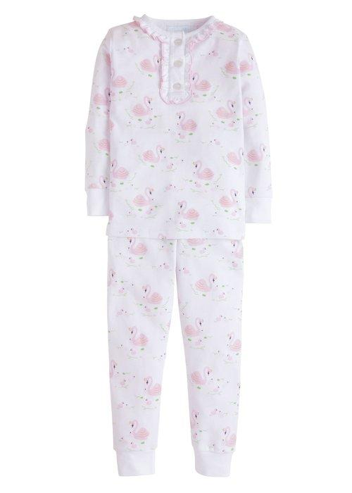 Little English LE Girl Printed Pajamas - Swan Lake