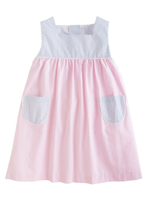 Little English LE Madison Sundress - Lt Pk Seersucker