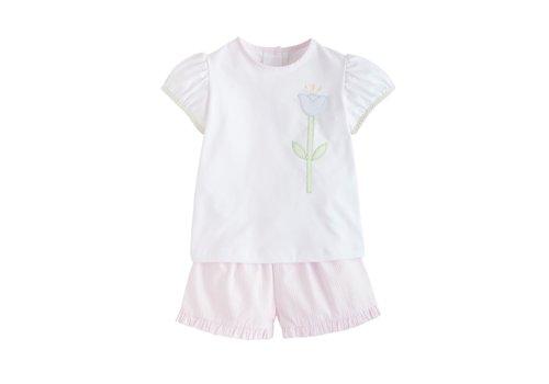 Little English LE Marisa Short Set - Pink Seersucker