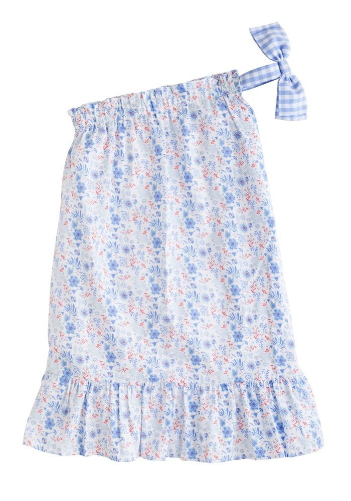 LE One Shoulder Bow Dress - Rosemary Floral