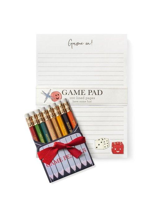 """Karen Adams KA SetGame - Notebook & Pencil Set """"Game"""
